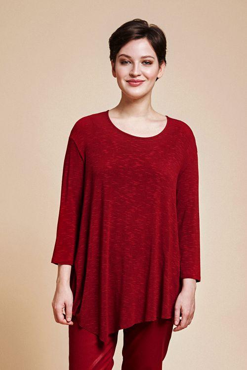 Блуза «База, асимметрия, трикотаж»
