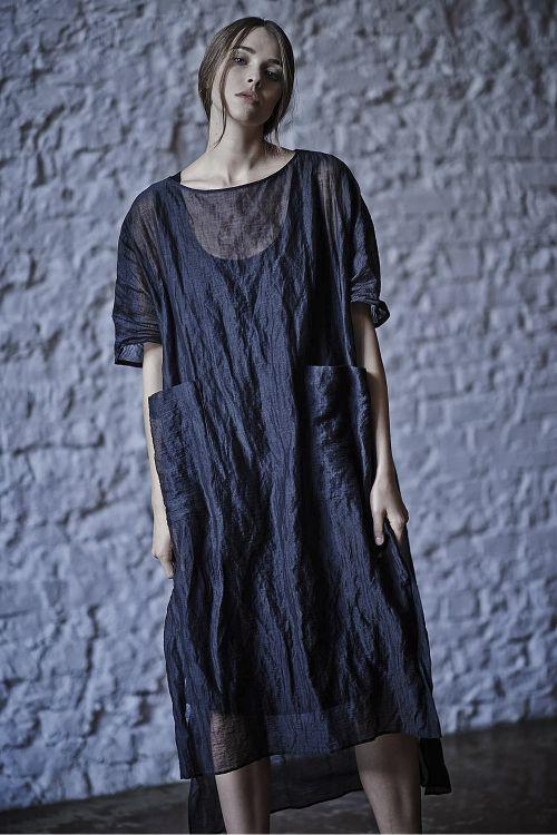 Платье ТУНИКА тонкая жатка