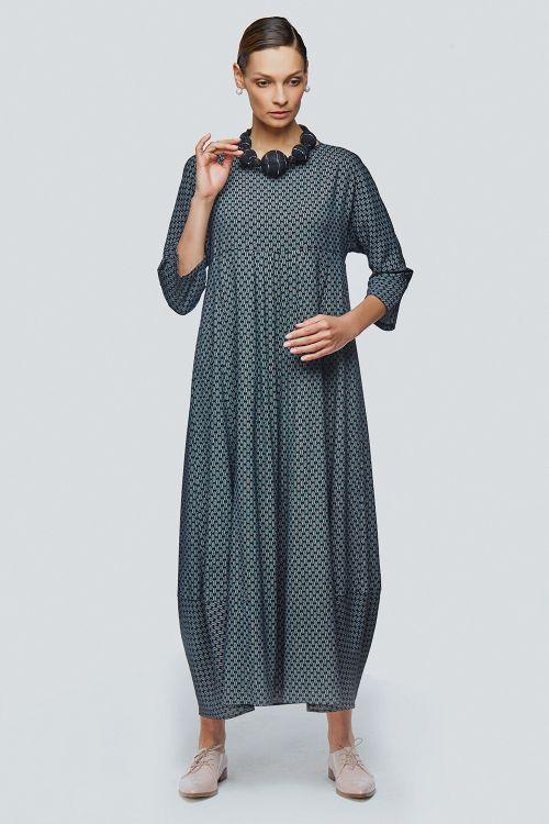 Платье ромб длинное ромбики