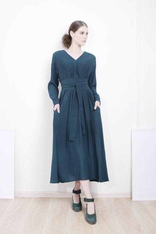 Платье Клеш длинное