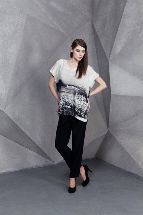 Блуза с воротничком Старое фото