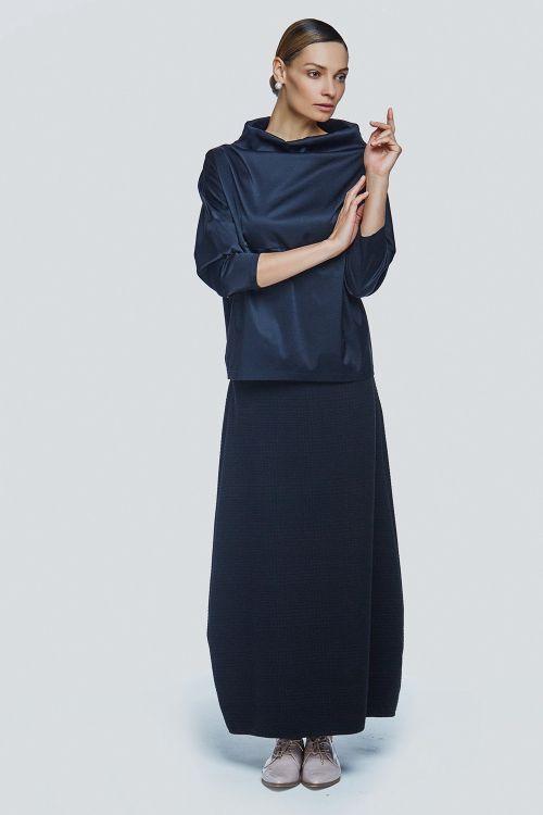 Блуза футляр атлас с карманами