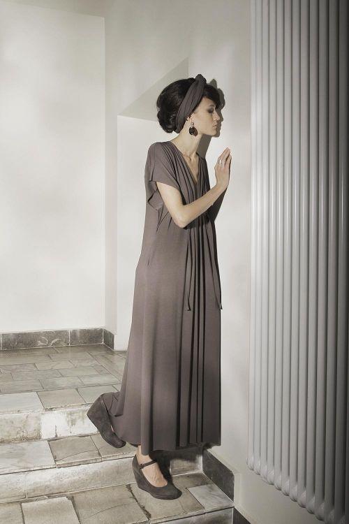 Платье Ампир с вертикальными складками