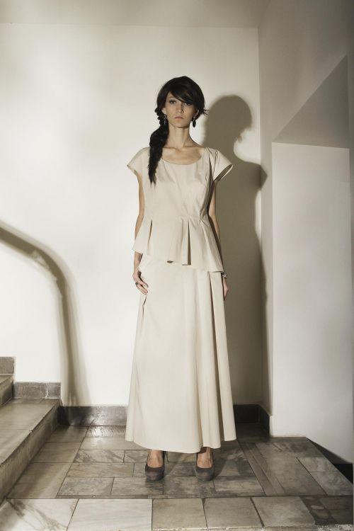 Асимметричная блуза из тонкого хлопка
