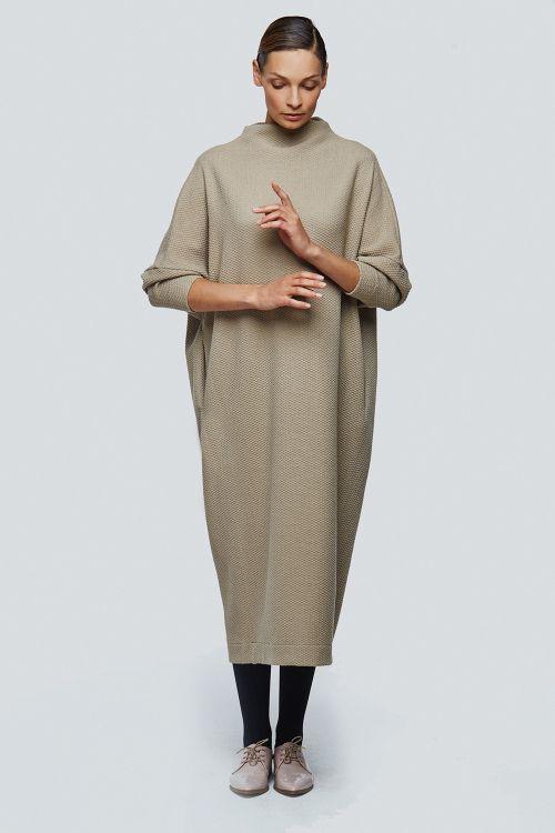 Платье хомут летучая мышь плетёнка длинное