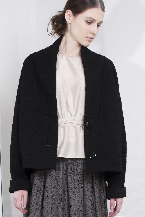 Куртка Объемный реглан, стеганая