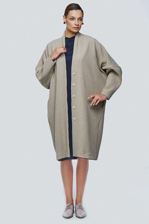 Пальто летучая мышь плетёнка
