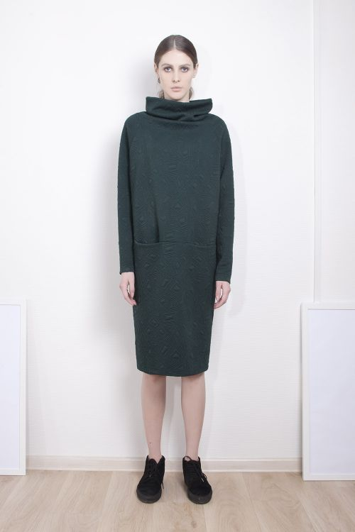 Платье Хомут джерси стеганое среднее
