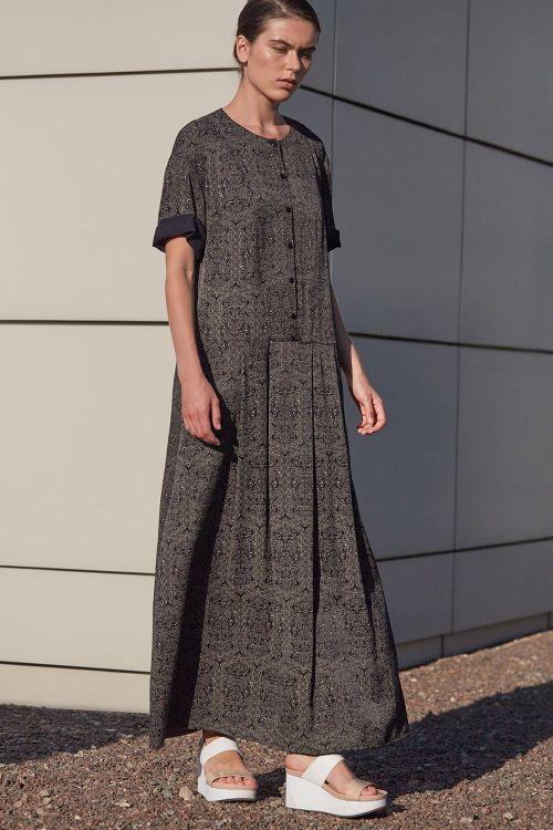 Платье со складками на пуговицах АРАБЕСКИ