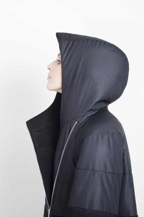 Пальто Комбинированное, длинное