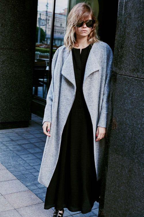 Пальто ОВАЛ шерсть меланж на подкладке