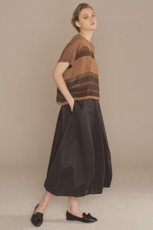 Блуза с люрексом, медь