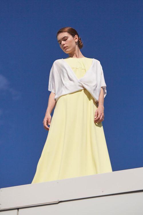 Платье без рукавов ПУРИЗМ с эластаном