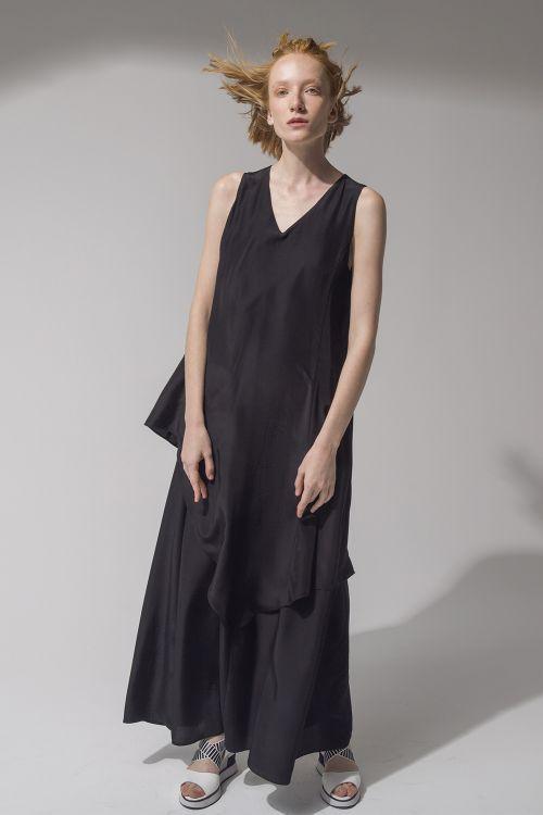 Платье А-силуэт, двухслойное