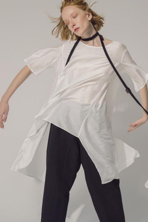 Блуза Воздух, клинья, шёлк