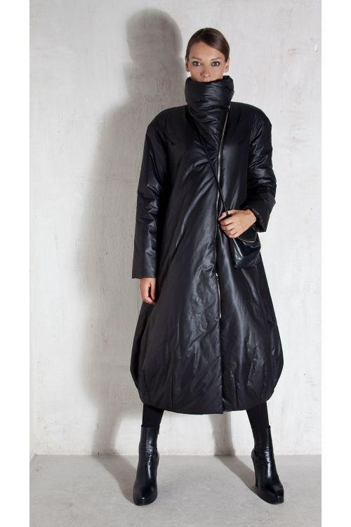 Пальто длинное на молнии, синтепон