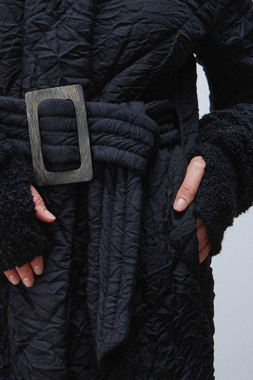 Пальто Прямое крэш с капюшоном