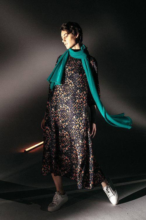 Платье с кокеткой Цветущий луг