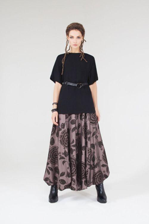 Блуза Кимоно-реглан с поясом