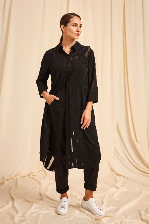 Блуза Джунгли, рубашка удлинённая