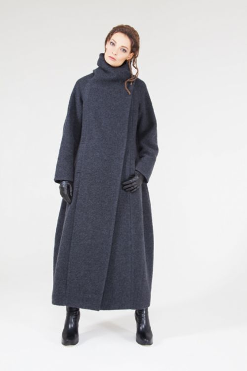 Пальто Трапеция-шерсть длинное на подкладке