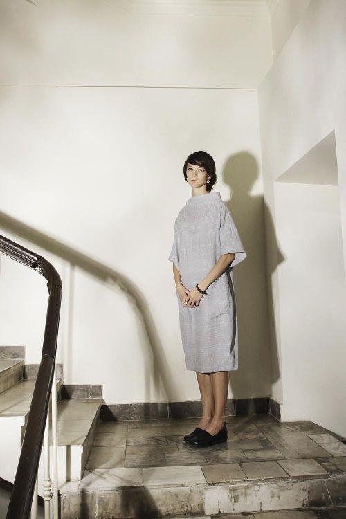 Платье-кимоно из нежнейшей полушерстяной ткани