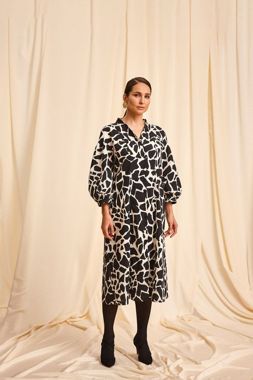 Платье Жираф, с буфами