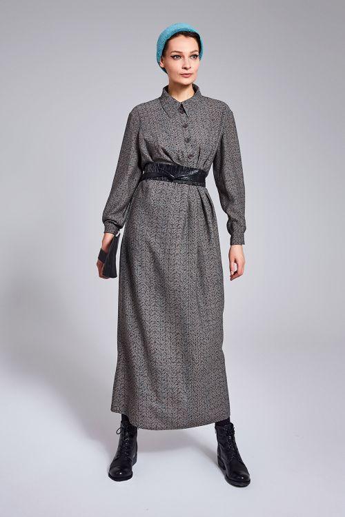 Платье Брызги, с асимметричной планкой