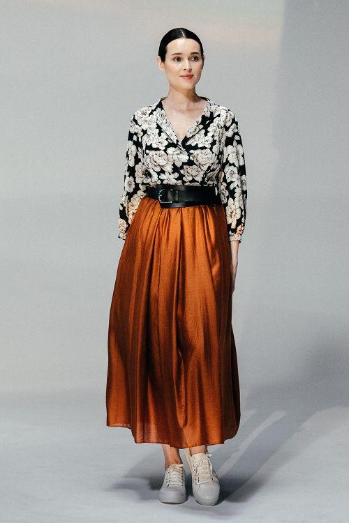 Блуза Флора с широкими рукавами