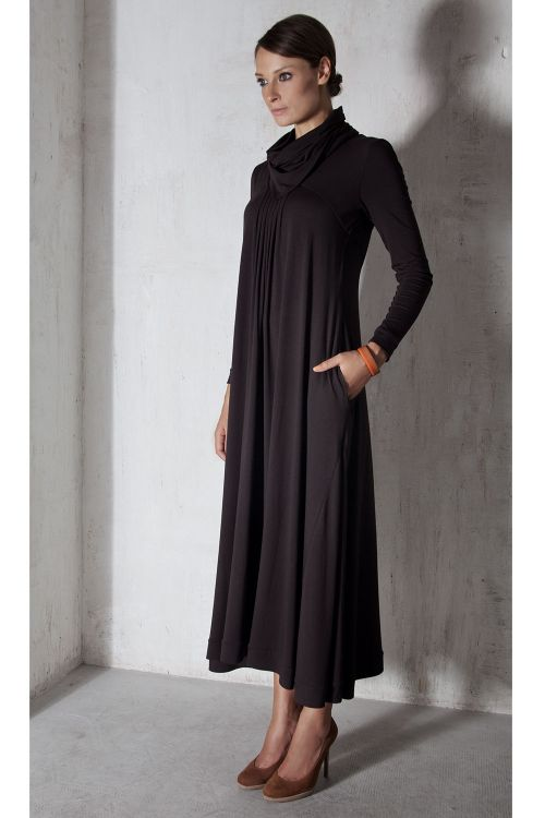 Платье А-силуэт, трикотаж