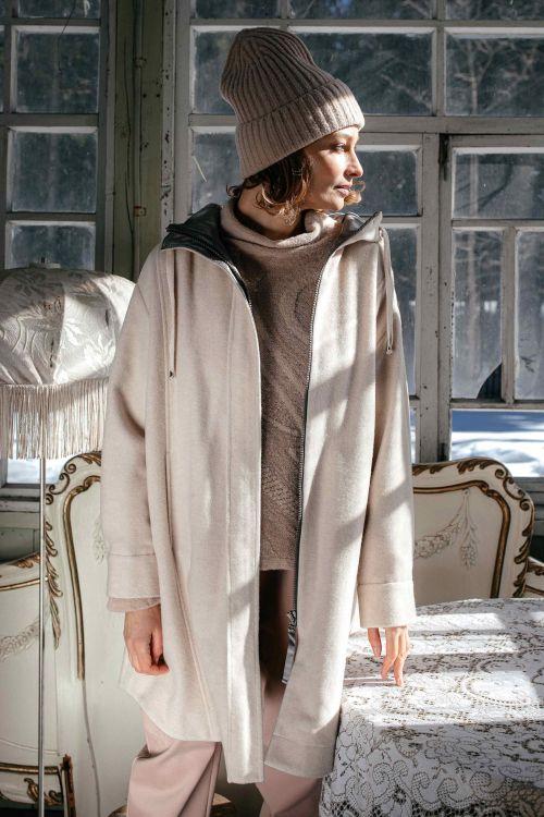 Пальто Рубашка с капюшоном светлое