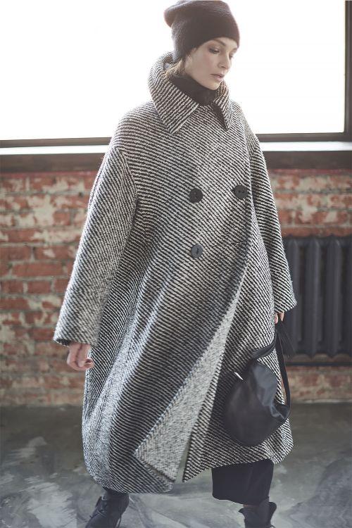 Пальто Трапеция на подкладке, диагональ