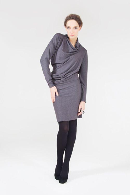 Платье-туника Асимметрия, хомут