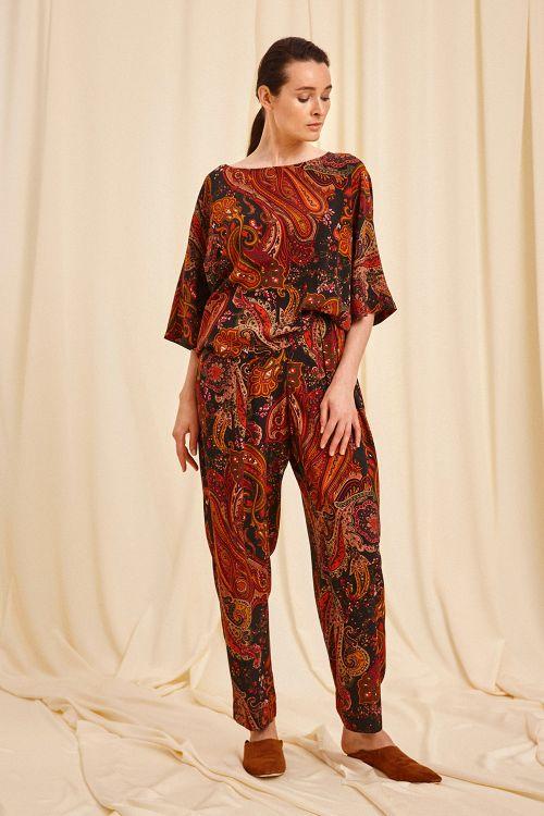 Блуза Пейсли, кимоно