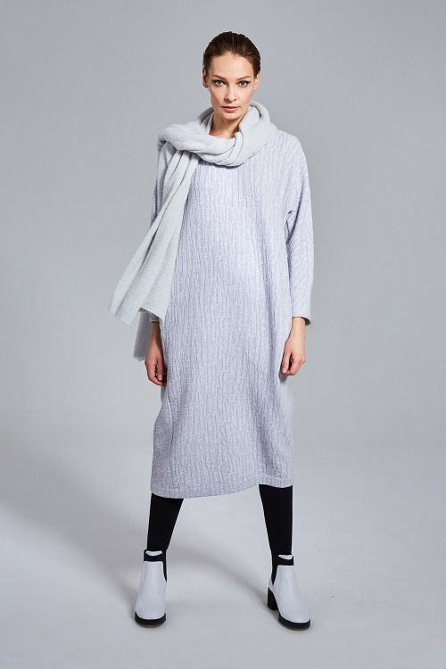 Платье Овал, жатый хлопок