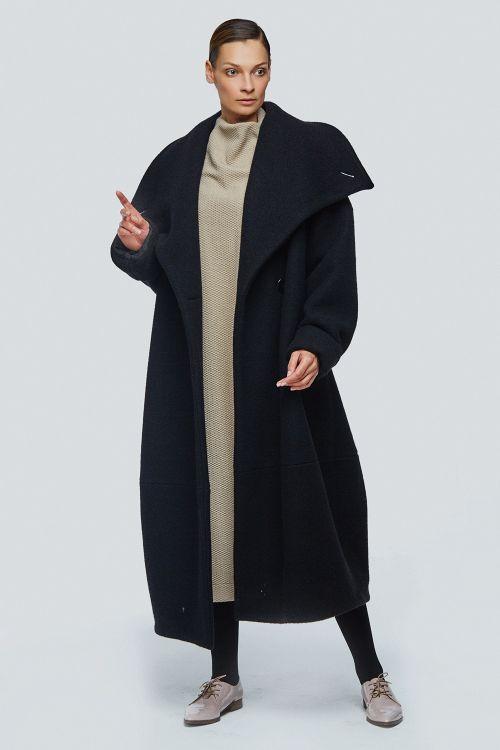 Пальто кимоно-ромб шерсть