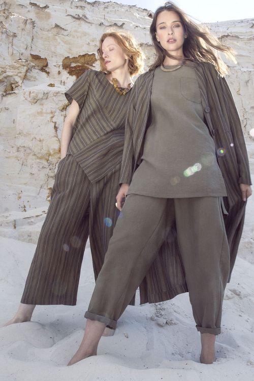Блуза Сафари с разрезами, тенсель