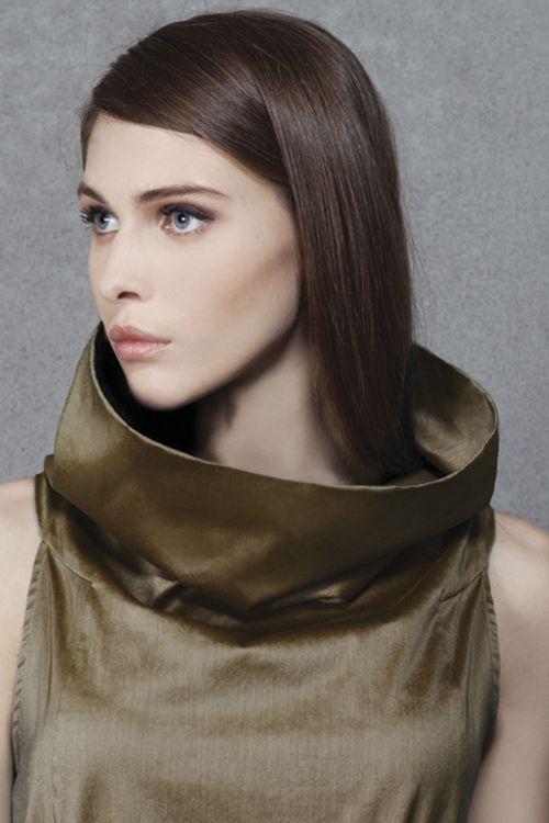 Платье Трапеция-хомут длинное без рукавов