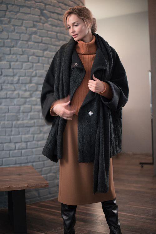 Куртка Комби-шерсть, косичка, на подкладке