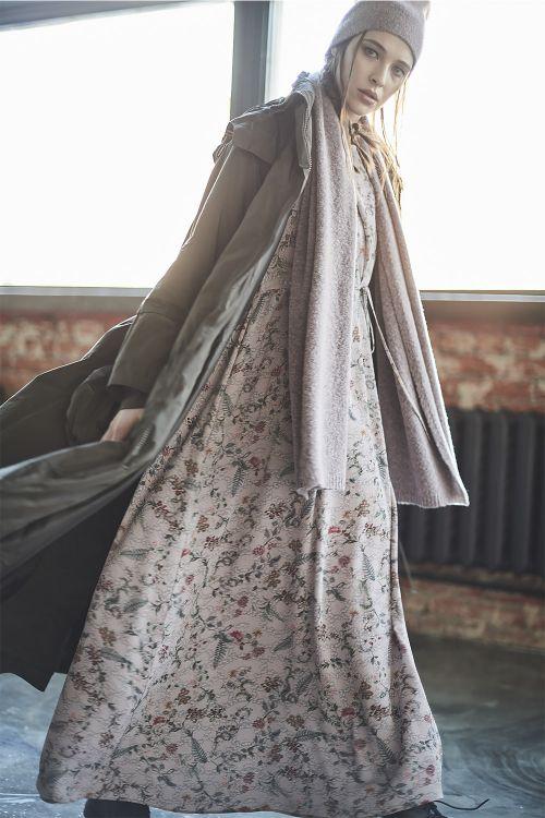 Платье Флора, со сборками