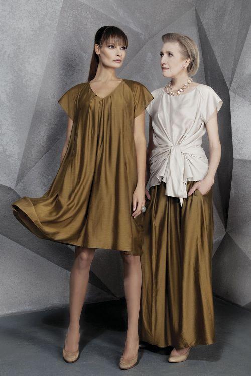 Платье короткое Трапеция со складками