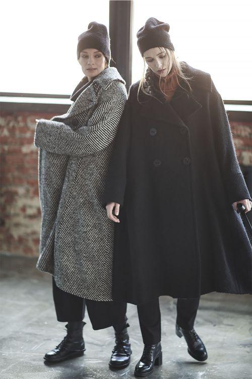 Пальто Трапеция чёрное