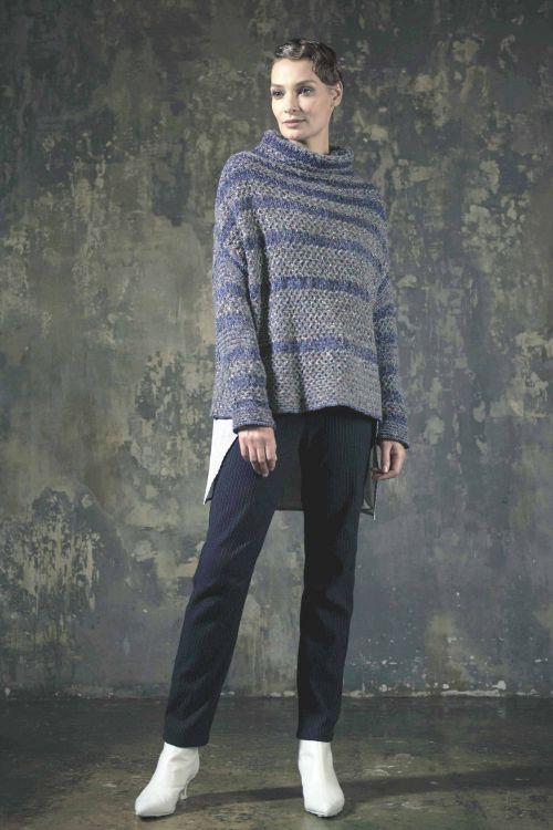 Джемпер с плетёным узором