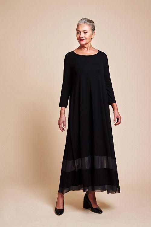 Платье «С сеткой, трикотаж»