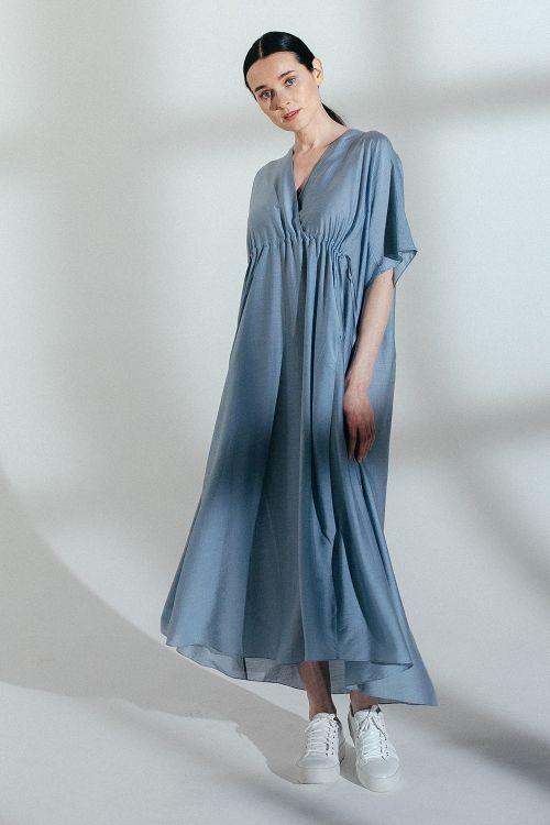Платье с кулисой, шелк