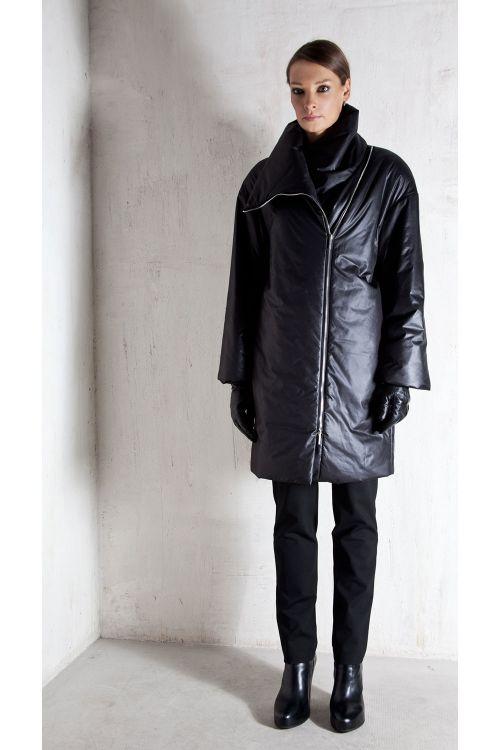 Пальто средней длины, снитепон, на молнии