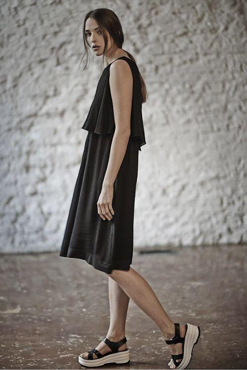 Платье ГОФРЕ с пелериной