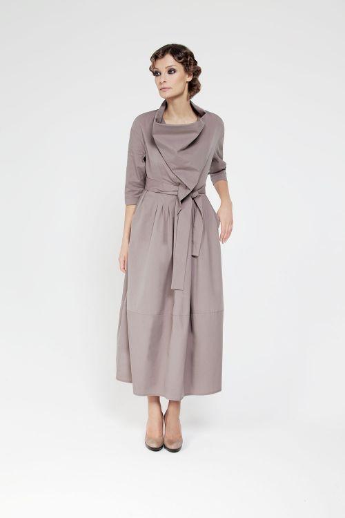 Платье качели с защипами