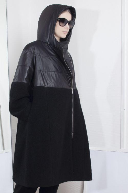 Пальто Комбинированное, средней длины