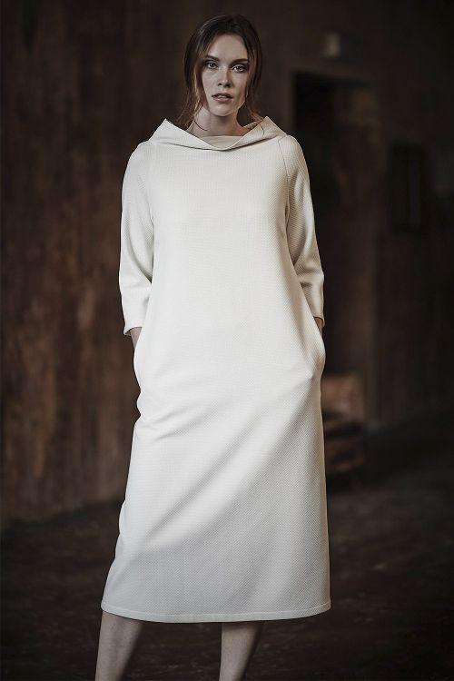 Платье со стойкой ЯЧЕЙКИ